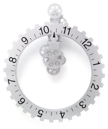 Kikkerland Big Wheel Revolving Wall Clock
