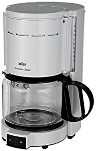 Amazon.com: Braun KF47 WH Braun KF47 White 10-Cup Coffee Maker, 220V (Non-USA Compliant), White ...