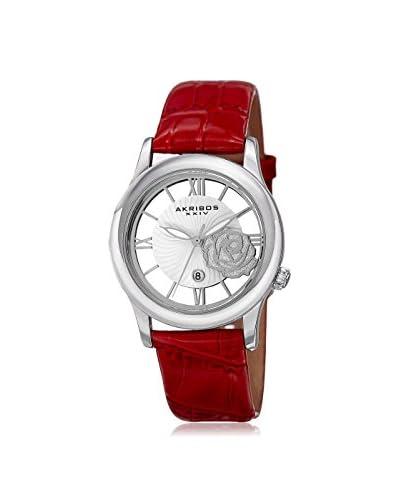 Akribos XXIV Women's AK837RD Blue/Silver Base Metal Watch