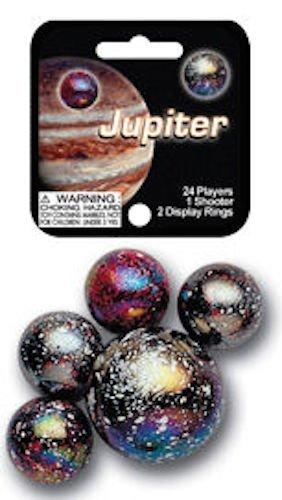 Mega Marbles - JUPITER MARBLES NET (1 Shooter Marble & 24 Player Marbles) - 1