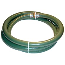 Tigerflex Series J PVC Suction Hose Assembly, Green, Male X Female (CXE) Camlocks