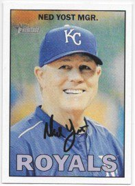 Ned Yost 2016 Topps Heritage Kansas City Royals Card #422