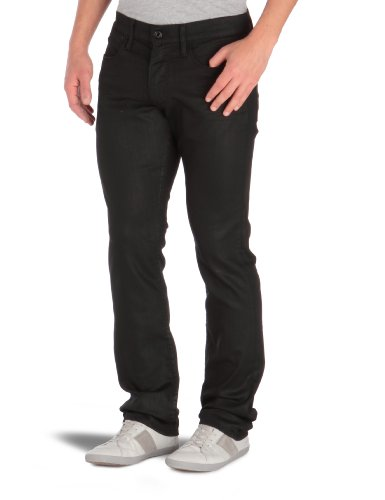 Japan Rags - Jeans slim, uomo Nero (Black - Noir) 54 IT (40W)