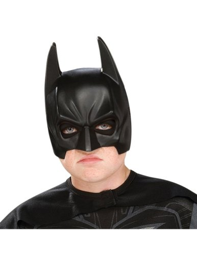 Scary-Masks Batman Adult Half Mask Halloween Costume - Most Adults