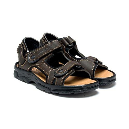 Esscelent Fashion 7009 Sandales Pelle Cuir Uomo Estate Prodotto Spagnolo