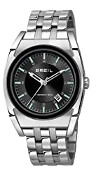 Breil Atmosphere Men's Quartz Watch with Black Dial Analogue Display and Silver Stainless Steel Bracelet TW0971