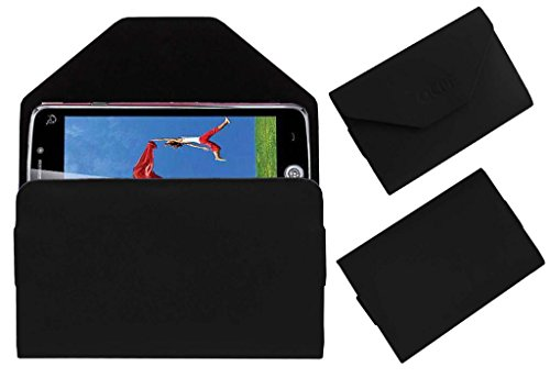 Acm Premium Pouch Case For Iball Andi Uddaan Quadcore Flip Flap Cover Holder Black  available at amazon for Rs.179