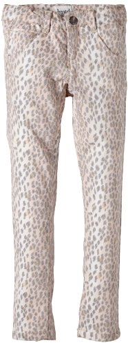 NAME IT Mädchen Hose EVE KIDS DNM XX SLIM LIMIT 2 X-SP14, Animalprint, Gr. 158, Mehrfarbig (Cloud Dancer)