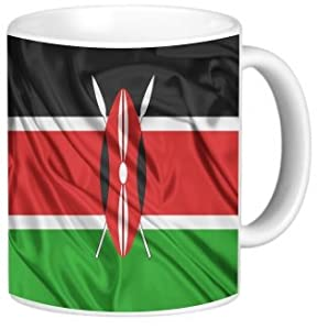 Rikki KnightTM Kenya Flag Design 11 oz Photo Quality Ceramic Coffee Mug Cup - FDA Approved - Dishwasher and Microwave Safe
