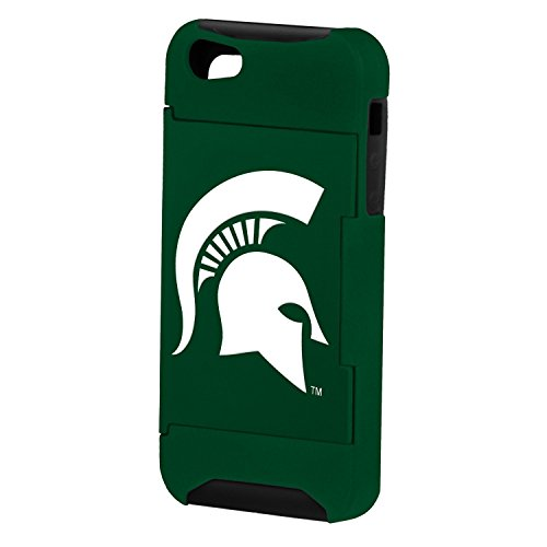 Forever Collectibles Ncaa Hideaway Credit Card Iphone 5 Hard Case - Retail Packaging - Michigan State Spartans
