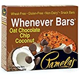 Pamela's Products Gluten Free Whenever Bars, Chocolate Chip Coconut, 5 Count Box, 7.05-Ounce (Pack of 6)