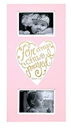 Dicksons Baby Girl Wall Plaque Photo Frame, For This Child I Prayed/Pink