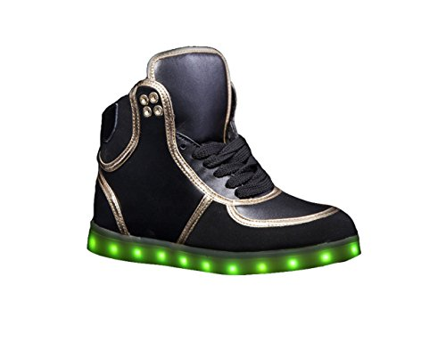 HOVERKICKS Kids Apollo LED Sneaker w/ Remote Control (4, Black)
