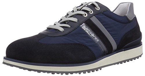 Samsonite Shoes MONTEVIDEO LOW 1603 SUEDE/FABRIC/RIFRANG BLUE/BLUE, Low-Top Sneaker uomo, Blu (Blau (BLUE/BLUE)), 41