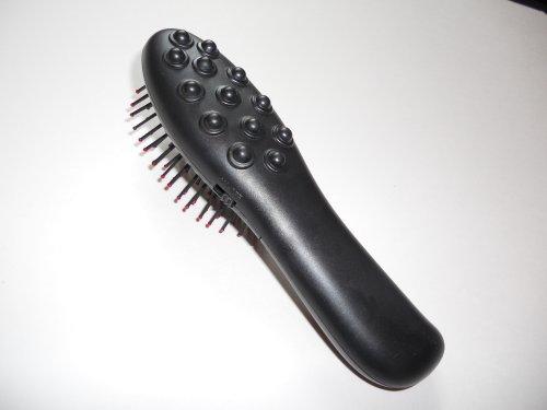 Motorized Vibrating Body and Scalp Massaging Hair Brush Therapeutic Head Scalp Massager