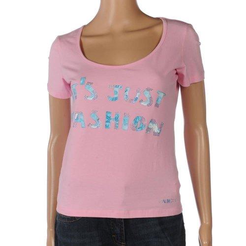 Versace VJC Jeans taglia L Rosa a maniche corte cotone maglietta FX 486RRP 115