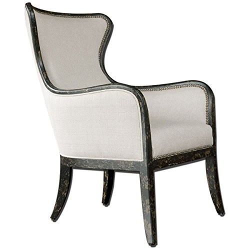 Uttermost, Sandy, Wing Chair, Accent Furniture