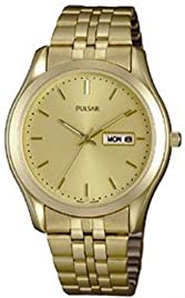 Men's Gold Tone Dress Watch Champagne Dial
