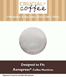 Washable & Reusable Coffee Filter fits Aerobie AeroPress; Fits ALL Aerobie AeroPress Coffee & Espresso Machines; Manufactured by Crucial Coffee made by Crucial Coffee