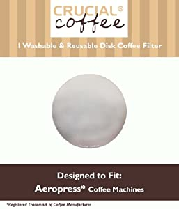Washable & Reusable Coffee Filter fits Aerobie AeroPress; Fits ALL Aerobie AeroPress Coffee & Espresso Machines; Manufactured by Crucial Coffee by Crucial Coffee