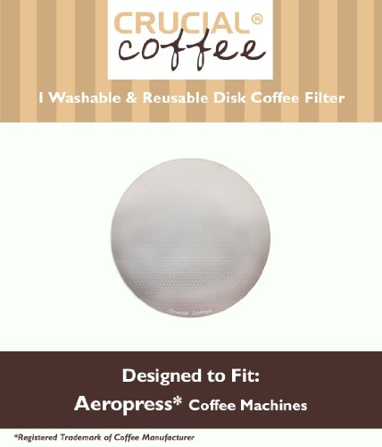 Crucial Coffee Filter Fits Aerobie Aeropress Washable And Reusable Disk Coffee Filter