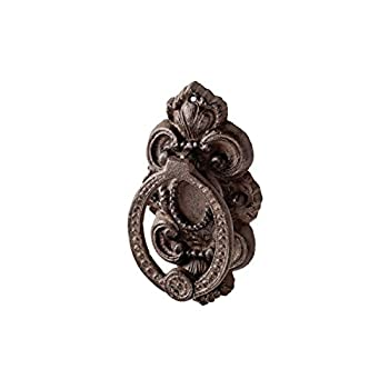 Prinz 3.5 X 1.25 X 6 Inch Cast Iron Rococo Door Knocker In Antique Brown Finish