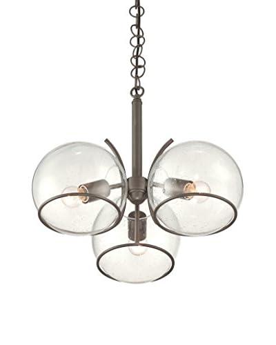 Varaluz Watson 3-Light Ceiling Lighting, Metallic Bronze/Clear