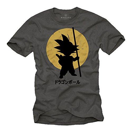 Maglietta Son Goku - T-shirt Dragon Ball grigio M
