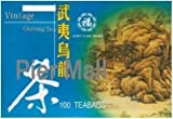 All Natural Vintage Wuyi Oolong (Wu Long) Tea - 100 Individually Wrapped Teabags - 7.0 Oz