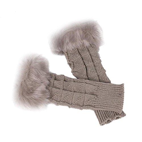 Sannysis Mode-Frauen-Mädchen gestrickte Arm Fingerless weiche warme Fäustling