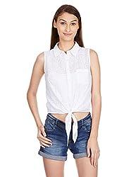 Anaphora Women's Body Blouse Shirt (56157_White_Large)