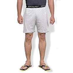 GUMALITY Men's Grey Cotton Shorts
