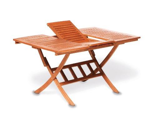 Multifunktionstisch Cordoba 110/160x90cm, klappbar und ausziehbar, Eukalyptus, FSC®-zertifiziert günstig bestellen