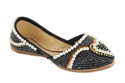 Image of Unze Kids Infants Pearl Beaded Leather Unisex Toddlers Party Indian Slipper Khussa - Cs044 (B001NV0GTU)