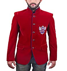 FashionSeva Men's Blazer (Blaz-1000_Red Blue_38)