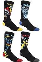 SockShop Hommes 4 paires Marvel X-Men Wolverine, Beast, Cyclops Et Colossus chaussettes en coton