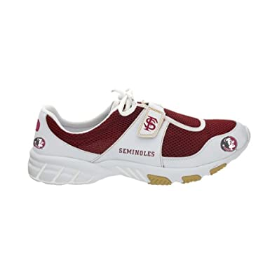 NCAA Florida State Seminoles (FSU) White-Garnet PIRO Tennis Shoes by Piro