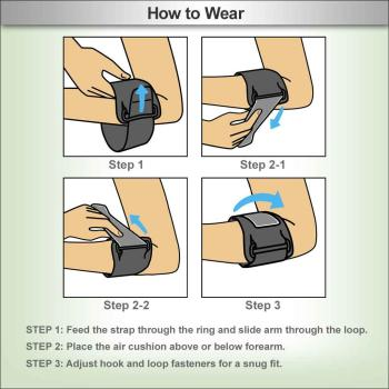 Fashion week Elbow it band brace how to wear for girls