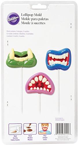 Wilton 2115-2121 Monster Mouth Fun Face Lollipop Mold (Monster Mouth)