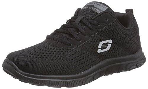 Skechers - Flex Appeal Obvious Choice, Sneakers da donna, Negro (BBK), 36