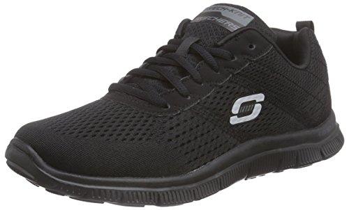 Skechers - Flex AppealObvious Choice, Sneakers da donna, Negro (BBK), 36
