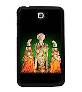 Fuson Premium 2D Back Case Cover Lord venketswara With Black Background Degined For Samsung Galaxy Tab 3 T211 P3200