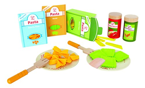 Hape Pasta Wooden Play Kitchen Food Set with Accessories
