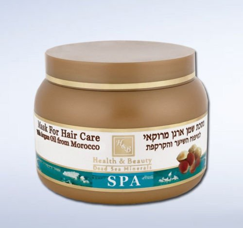 Health And Beauty Dead Sea Hair Mask With Natural Argan Nut Oil From Morocco
