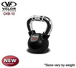 Valor Fitness Chrome Kettlebell, 10 lb