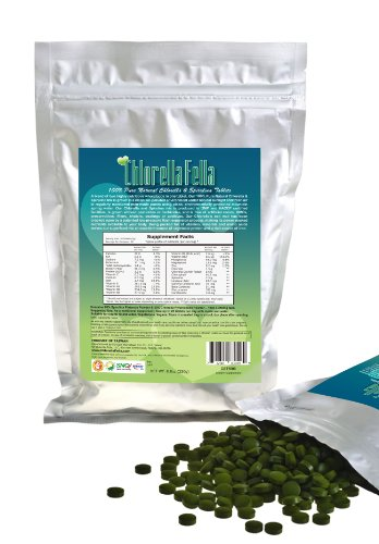 Spirulina/Chlorella Mix Tablets: 100% Pure Natural Taiwan Premier Quality Spirulina And Chlorella Mixed Tablets (1000 250Mg Tabs Per Pack /8.8Oz)