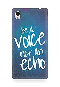 AMEZ be a voice not an echo Back Cover For Sony Xperia M4