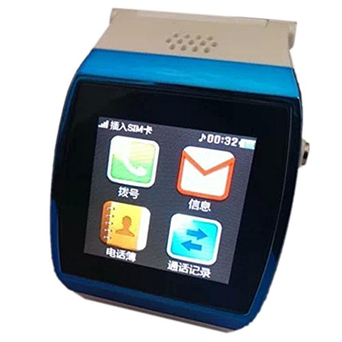 "1.55""Led Capacitive Touch Screen Upro Bluetooth Smart Watch For Iphone Smart Phone Ios Android Apple Iphone 4/4S/5/5C/5S Android Samsung S2/S3/S4/Note 2/Note 3 Htc Sony(Blue)"