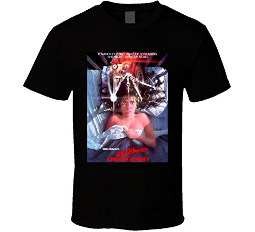 Night spread A Nightmare on Elm Street Cult Horror Movie Poster Freddy Kreuger T Shirt