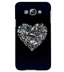 PrintVisa Romantic Love Diamond 3D Hard Polycarbonate Designer Back Case Cover for Samsung Galaxy Grand 3